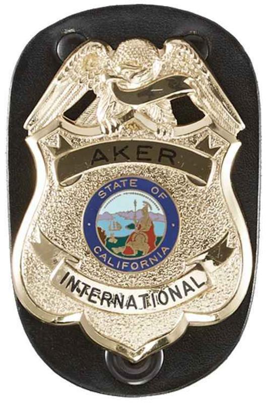 Aker Model 590 Clip On Federal Badge Holder
