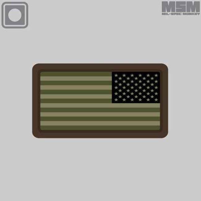 Mil-Spec Monkey US Flag PVC Mini REV Patch USFLAGPVCMINIREV