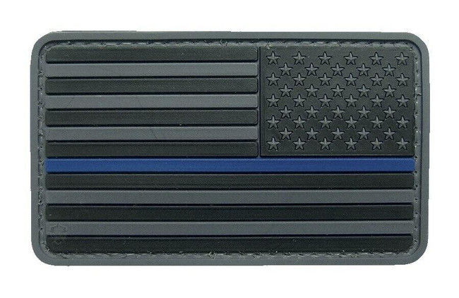 5ive Star Gear U.S. Flag Black w/Blue Stripe Morale Patch