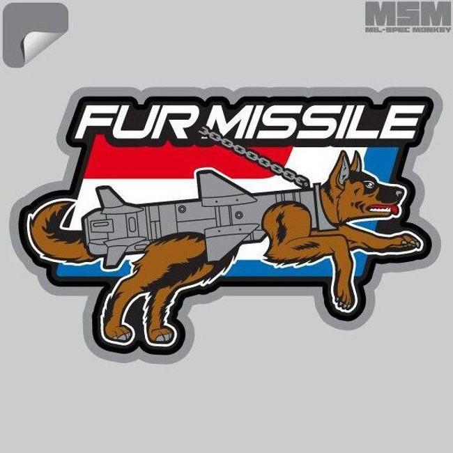 Mil-Spec Monkey Fur Missile Decal - 00034-FURMISSILE - Only $1.25 - LA Police Gear