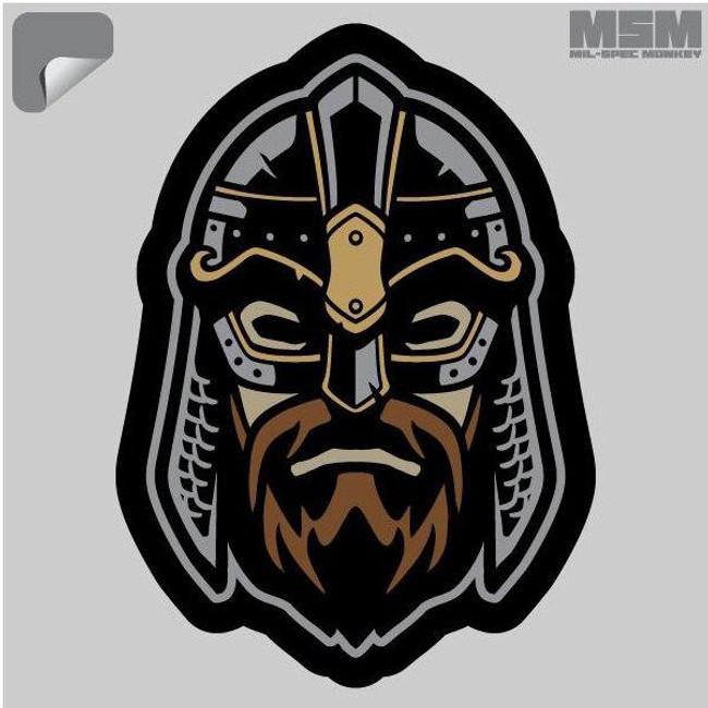 Mil-Spec Monkey Viking Warrior Head 2 Decal - Only $1.25 - LA Police Gear