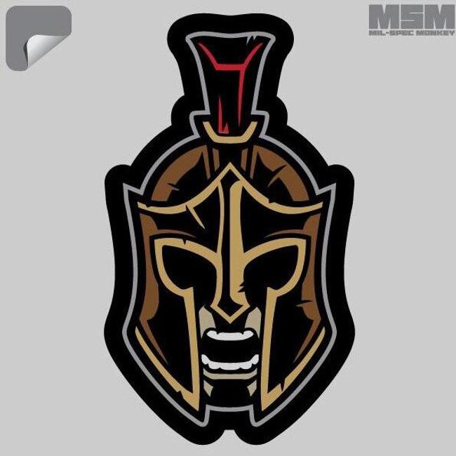 Mil-Spec Monkey Spartan Warrior Head 1 Decal - Only $1.25 - LA Police Gear