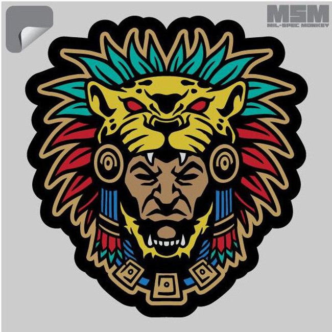 Mil-Spec Monkey Aztec Warrior Head 1 Decal - Only $1.25 - LA Police Gear