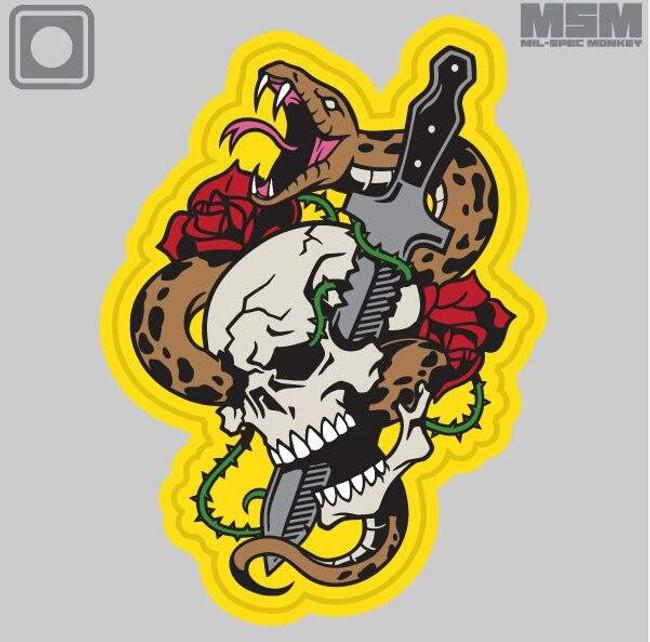 Mil-Spec Monkey Skull Snake 1 PVC Patch - Main - Only $6.00 - LA Police Gear