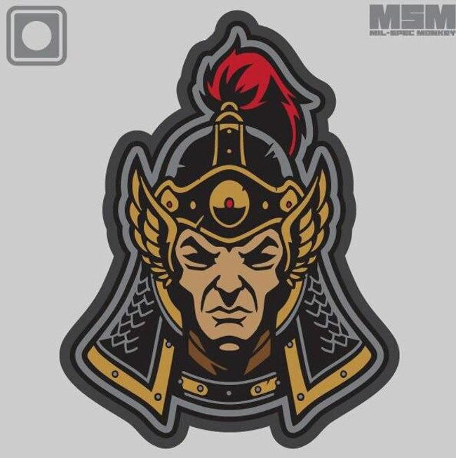 Mil-Spec Monkey Ming Dynasty Warrior Head 1 PVC Patch - Main - Only $5.50 - LA Police Gear