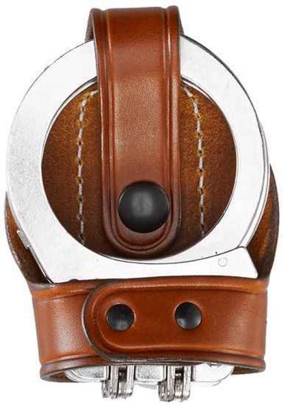Aker Model 603 Bikini Hinged Handcuff Case tan plain