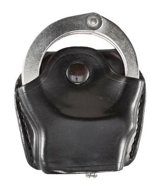 Aker Model 606 Open Top Hinged Handcuff Case plain black