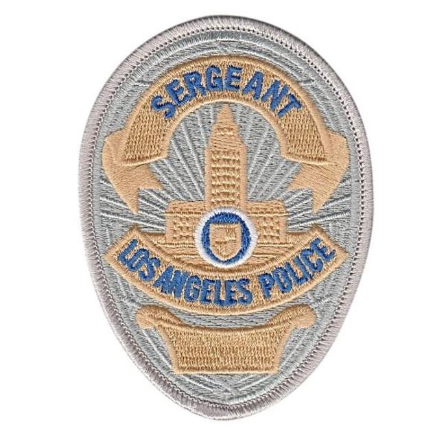 Hero's Pride Los Angeles Police Sergeant Badge Patch - 5059C - Only $2.99 - LA Police Gear