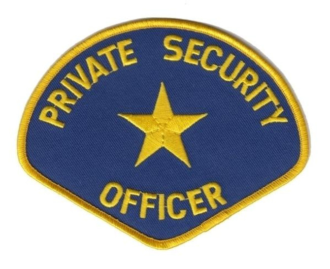 Hero's Pride Private Security Officer Patch-Med Gold on Royal - 5158 - Only $2.99 - LA Police Gear