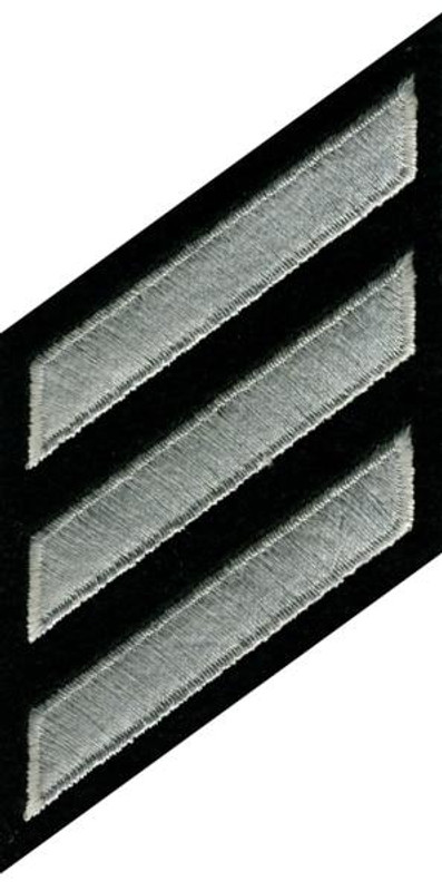 Hero's Pride Hashmarks 5379 Silver Grey on Black Patch - 5379 - Only $0.99 - LA Police Gear