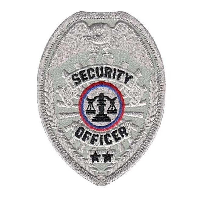 Hero's Pride Security Officer Badge Patch - Only $2.50 - Silver - LA Police Gear