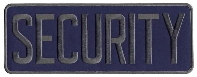 Hero's Pride Security Back Patch - Grey Navy Blue - LA Police Gear