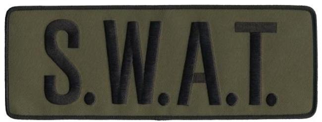 Hero's Pride SWAT Back Patch - Black OD Green - LA Police Gear