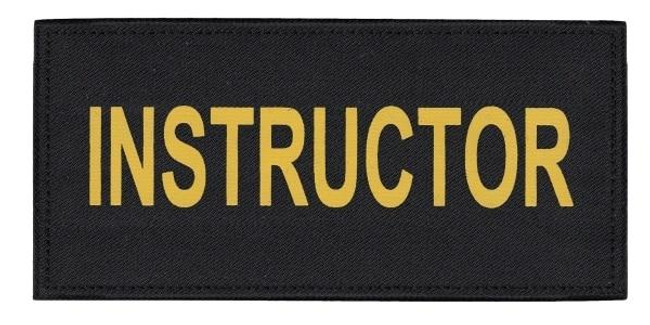 Hero's Pride Instructor Tactical Chest and Back Patch Set - LA Police Gear