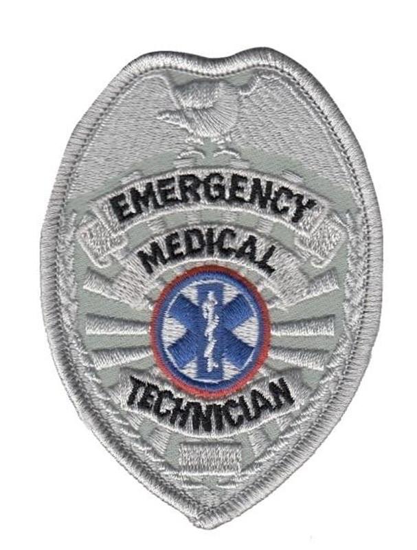 Hero's Pride EMT Badge Patch - Silver - LA Police Gear