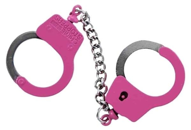 Hero's Pride Handcuffs Keychain - Pink - LA Police Gear