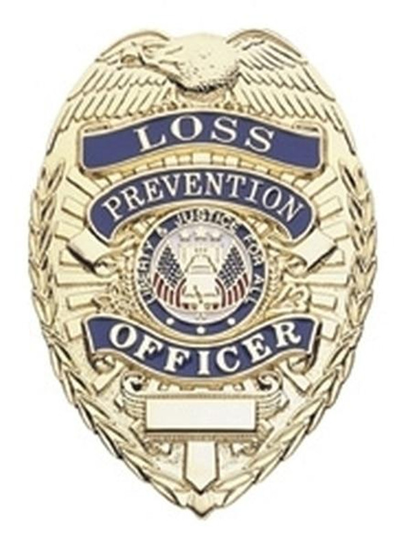 Hero's Pride Loss Prevention Officer Lightweight Badge - Gold Plated - LA Police Gear