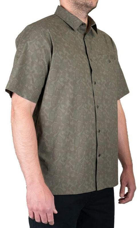 LA Police Gear Terrain Short Sleeve Button Up Shirt - LAPG Camo