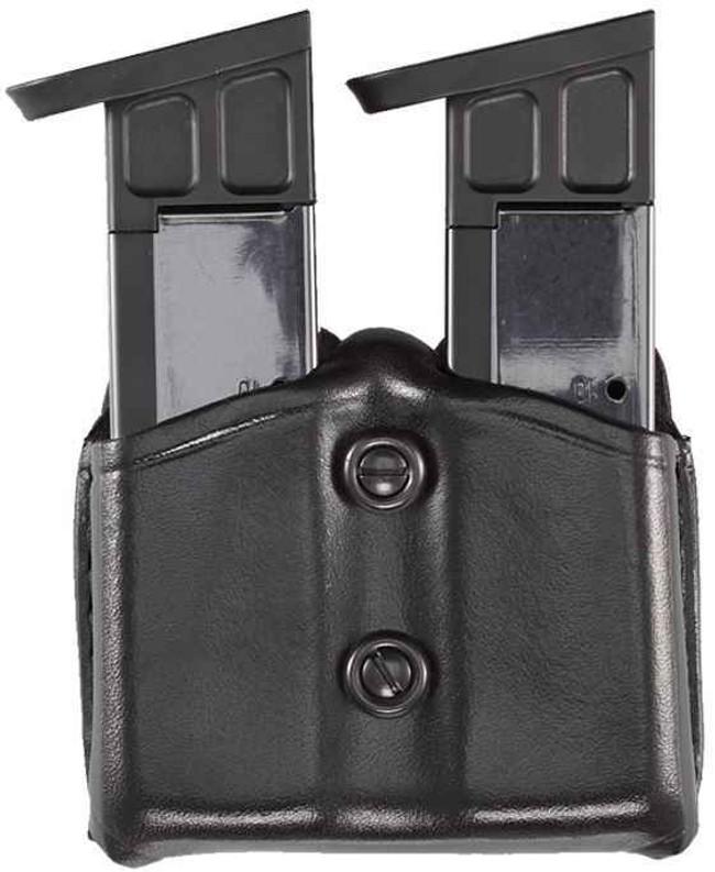 Aker Model 616 Carry Comp II Dual Magazine Pouch black plain front
