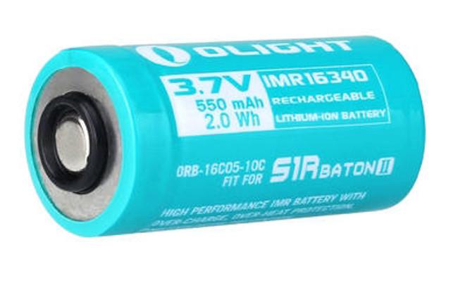 Olight 550mAh IMR16340 Battery for S1R Baton II - LA Police Gear