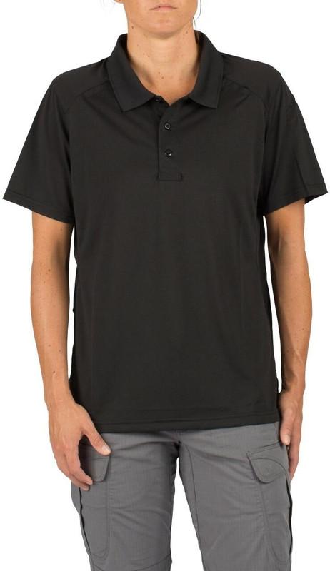 5.11 Tactical Women's Helios Short Sleeve Polo Shirt - Black