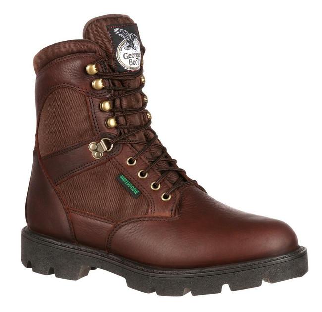 """Georgia Boot Homeland 8"""" Brown Waterproof Work Boot"""