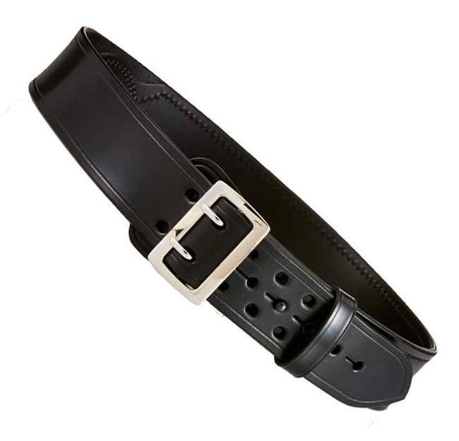 Aker B03 Sam Browne Half-Lined Duty Belt black plain chrome