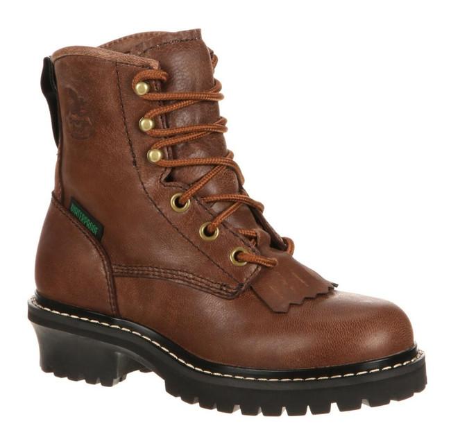 "Georgia Boot Big Kid's Logger 5"" Brown Waterproof Boot"