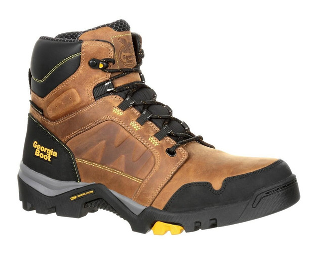 "Georgia Boot Amplitude 6"" Brown Waterproof Work Boot"