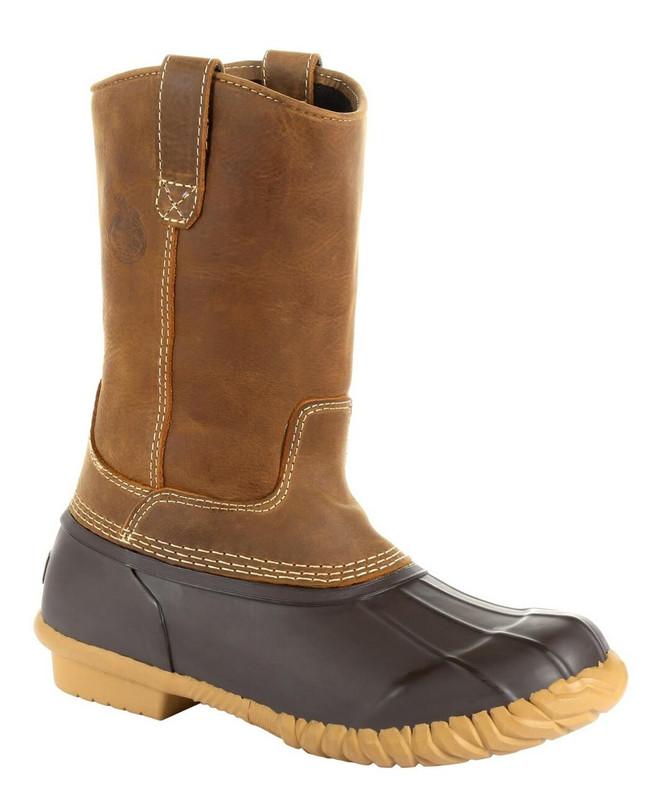 "Georgia Boot Marshland 10"" Brown Pull-On Duck Boot"