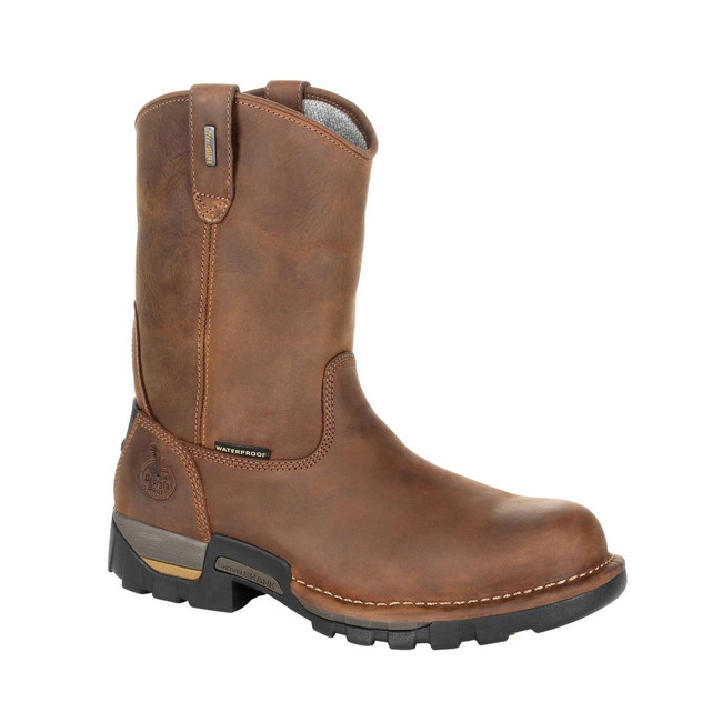 "Georgia Boot Eagle One 10"" Brown Waterproof Pull-On Boot"