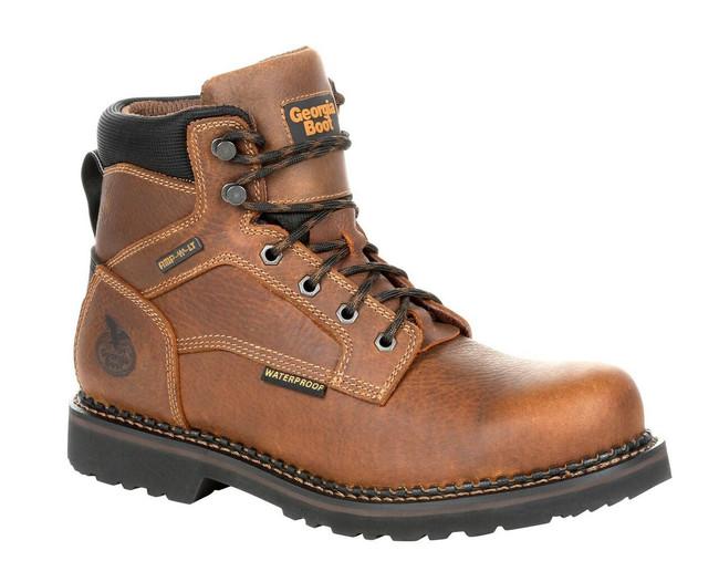 """Georgia Boot Giant Revamp 6"""" Brown Waterproof Work Boot"""