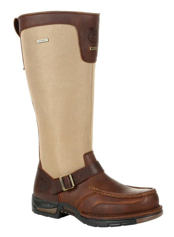 "Georgia Boot Athens 16"" Brown Waterproof Snake Boot"