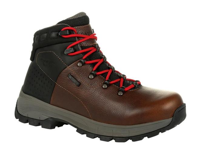 "Georgia Boot Eagle Trail 6"" Brown Waterproof Alloy Toe Hiking Boot"