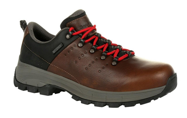 "Georgia Boot Eagle Trail 3"" Brown Waterproof Oxford Shoe"