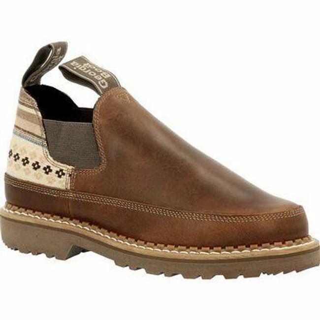 "Georgia Boot Romeo 3"" Brown/Stripe Giant Women's Shoe"