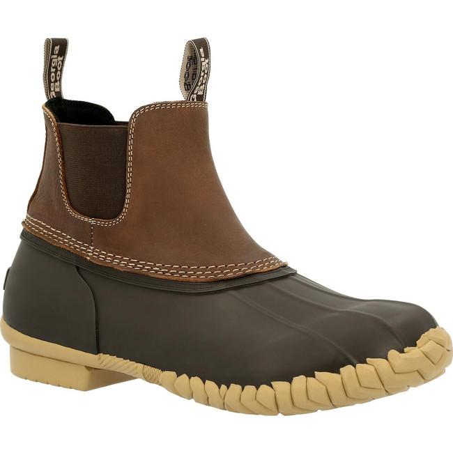 "Georgia Boot Marshland 6"" Brown Chelsea Duck Boot"