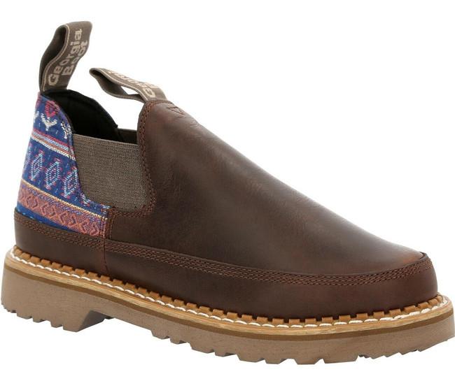 "Georgia Boot Romeo 3"" Brown/Blue Women's Shoe"