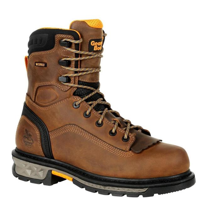 "Georgia Boot Carbo-Tec LTX 8"" Brown/Black Waterproof Insulated Work Boot"