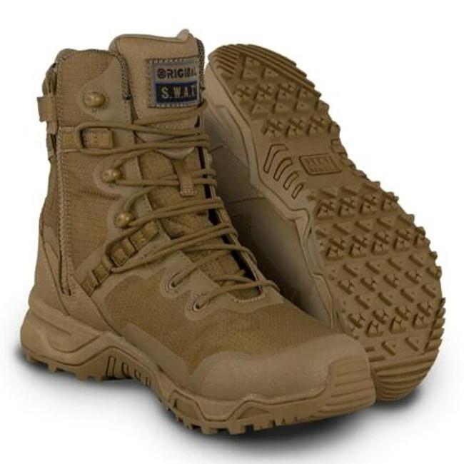 "Original S.W.A.T. Alpha Fury 8"" Coyote Side-Zip Boot"