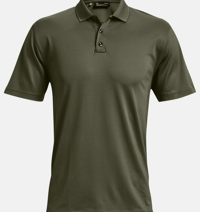 Under Armour Tac Performance Polo 2.0 od green front