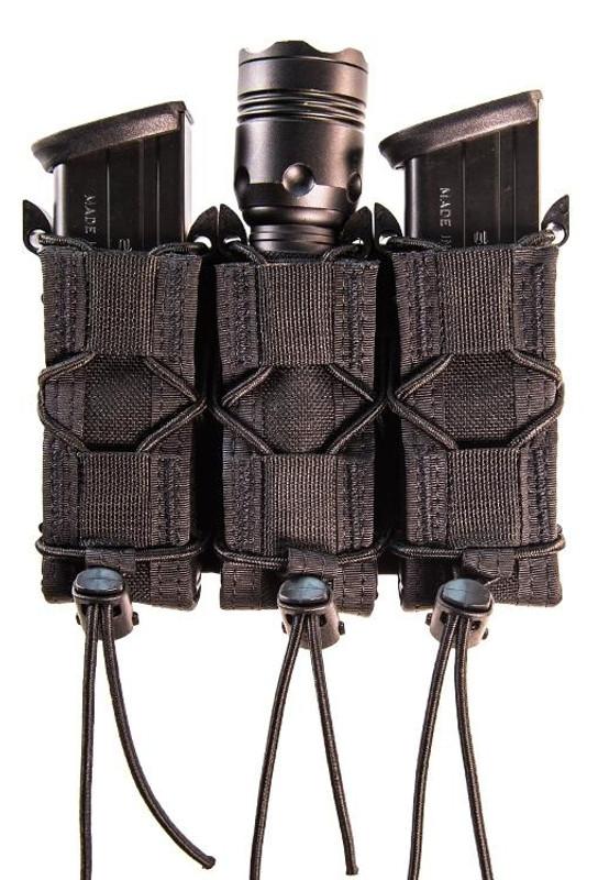 High Speed Gear Adaptable Belt Mount Triple Pistol TACO Pouch black
