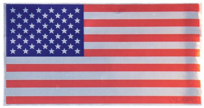 LA Police Gear Mirror Flag Sticker