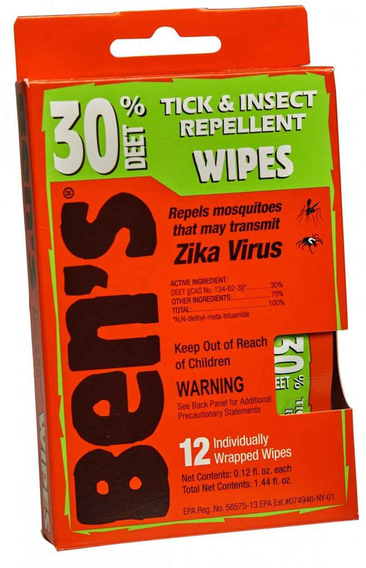 Adventure Medical Kits Bens Wipes Pack of 30 0006-7085 044224070852