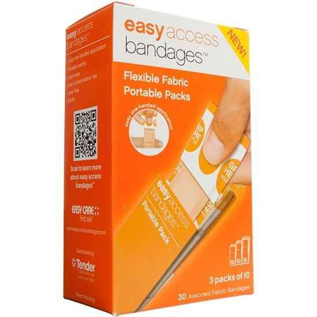 Adventure Medical Kits Easy Access Bandages, Fabric, Assorted Pack, 30 Count 0095-2000 044224020000