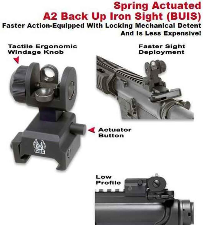 GGandG Spring Actuated A2 Back Up Iron Sight 1005SA 813157000041