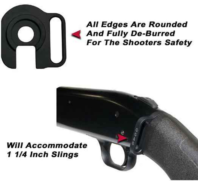 GGandG Mossberg 590 and 500 Rear Single Point Sling Attachment 1132 813157000553