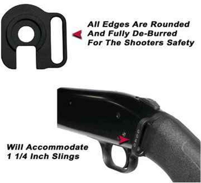 GGandG Left Handed Mossberg 590 and 500 Rear Single Point Sling Attachment 1132L 813157000560