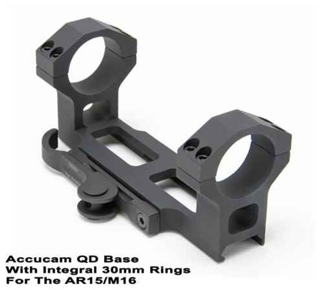 GGandG Accucam QD Scope Mount with 30mm Integral Rings for AR-15/M16 1198 813157000737