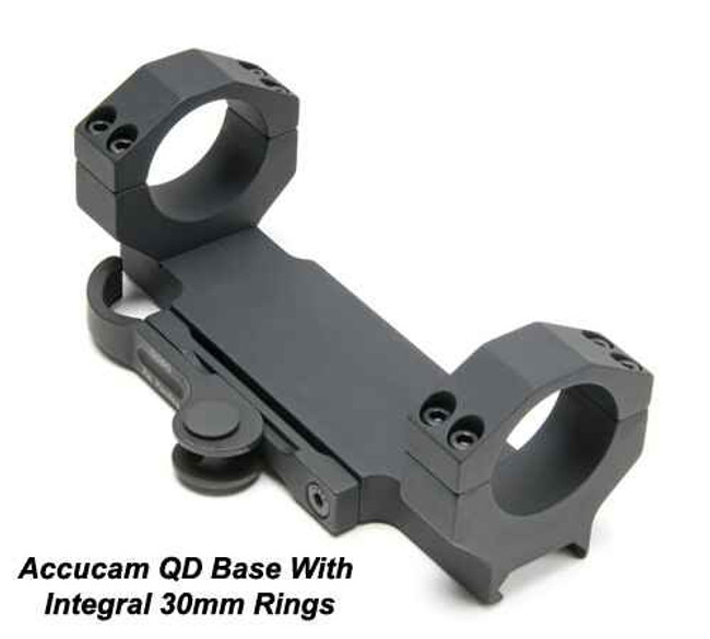 GGandG Accucam QD Scope Mount with 30mm Integral Rings for Bolt Guns 1199 813157000744